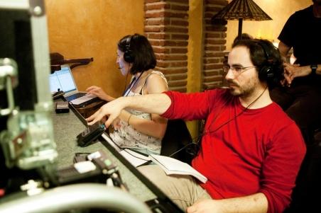 Gonzalo Bendala en el rodaje de 'Asesinos inocentes'|Filmax