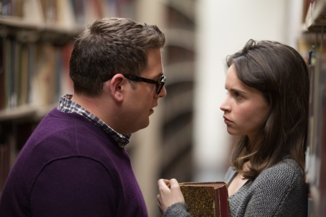"Jonah Hill as ""Mike Finkel"" and Felicity Jones as ""Jill Finkel"" in TRUE STORY. Photos by Mary Cybulski.  Copyright © 2015 Twentieth Century Fox Film Corporation All Rights Reserved."