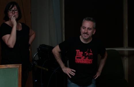 David Ilundain durante el rodaje de 'B' / Álvaro García Coronado