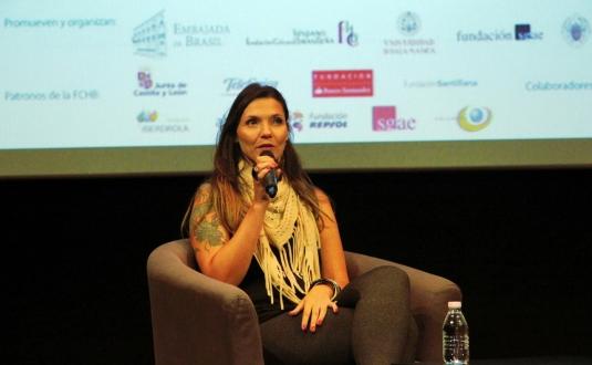 Mariana Jacob, durante la presentación en Madrid de 'Prometo um dia'