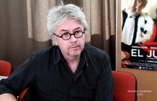 Christian Vincent durante el encuentro con la Revista Insertos