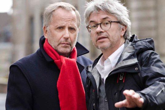 Fabrice Luchini y Christian Vincent en el rodaje de 'El juez / Surtsey