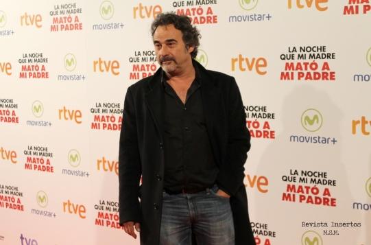 Eduard Fernández durante la presentación de la película