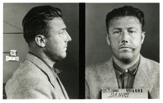 Ficha policial de Abel Danos / Archivo de la Prefectura de Policía de París
