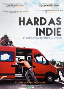 Poster cartel de Hard as indie documental sobre El Cosmonauta
