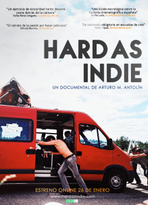 Poster cartel de Hard as indie documental sobre El Cosmonauta